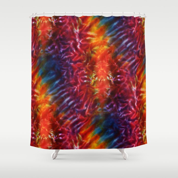 Vibrant Hippy Tye Dye Shower Curtain By Kirstenstar