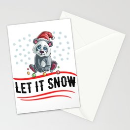 Christmas Let It Snow Stationery Cards