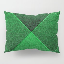 Plush Kelly Green Diamond Pillow Sham