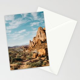 Rock Mountains in the Desert Stationery Cards