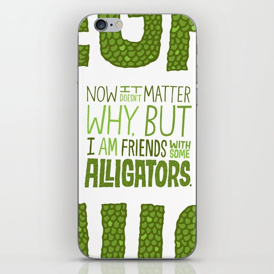 Aligator Friends iPhone & iPod Skin