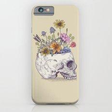 Half Skull Flowers Slim Case iPhone 6