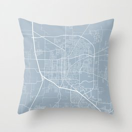 Denton Map, USA - Slate Throw Pillow