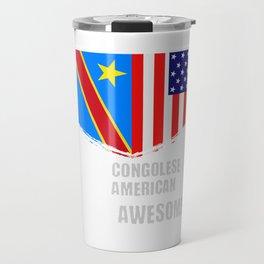 50% Congolese 50% American 100% Awesome Travel Mug