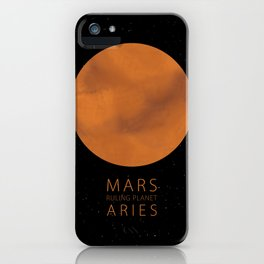 Aries - Ruling Planet Mars iPhone Case