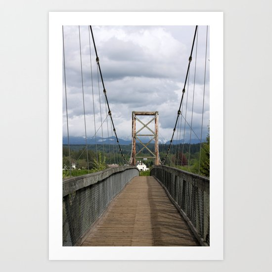Across the Bridge and Beyond Art Print