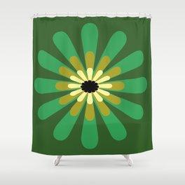Green Flower Decor design Shower Curtain
