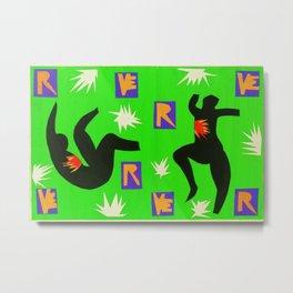 Henri Matisse - Verve IV gouache cut-out series portrait modernism painting Metal Print