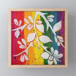 Leaves on the World Tree: Berber Argan Framed Mini Art Print