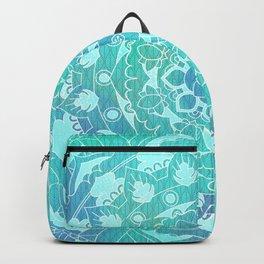 Refreshing Ocean Green Mandala Pattern Backpack