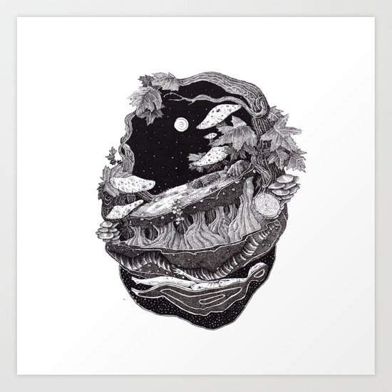 dark spirit of the nature collab franciscomff Art Print