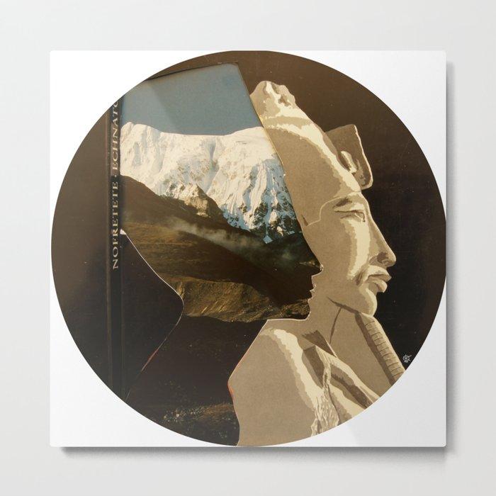 Nofretete & The Mountains behind Metal Print