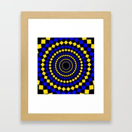 circular diamond pattern Framed Art Print