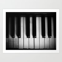 black keys Art Prints featuring Keys by Christine Wichert Arts