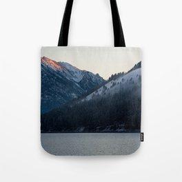 Last Light at Wallowa Lake Oregon Tote Bag