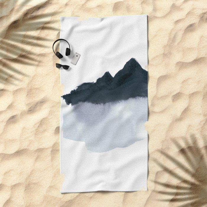 mountain scape minimal Beach Towel