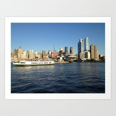 Manhattan, New York City, View from Hudson River Art Print