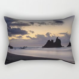 Golden Hour sunset in Benijo beach Rectangular Pillow