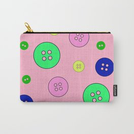 Abstract colorful buttons seamless pattern, textile, surface pattern Carry-All Pouch