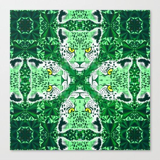 Emerald Leopard  Canvas Print