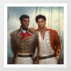 Regency AU - Finn and Poe Art Print