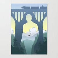 skyfall Canvas Prints featuring SKYFALL by Ape Meets Girl