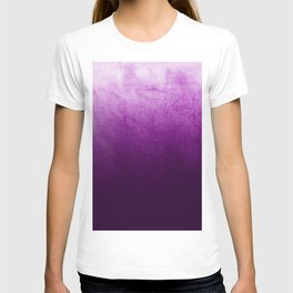 Purple Watercolor On Cotton T-shirt