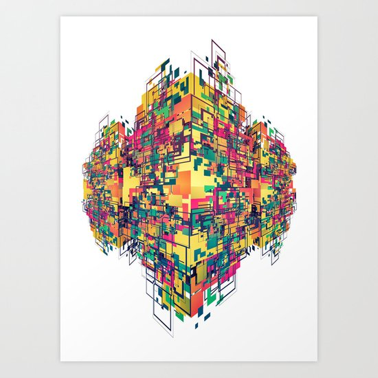 Digital Slums Art Print