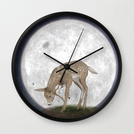 Night Deer Wall Clock