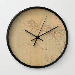 Hawaii Postal Route Map 1908 Wall Clock