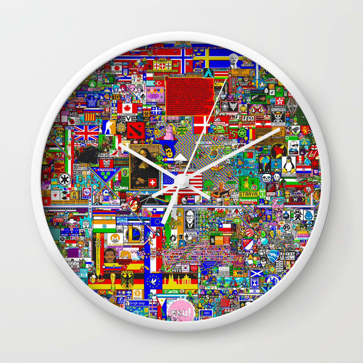R Place Reddit Event Wall Clock By Presently Society6,Master Bedroom Small Two Bedroom Apartment Layout