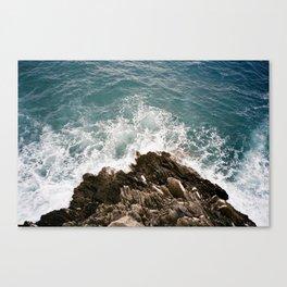 Angry Sea, Cinque Terre Canvas Print