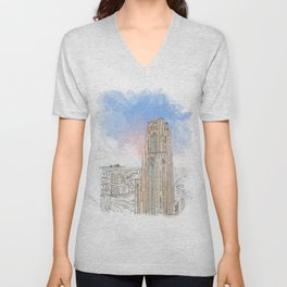 Cathedral of Learning Unisex V-Neck