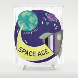 Certified Space Ace Shower Curtain