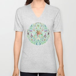 Tropical garden Unisex V-Neck