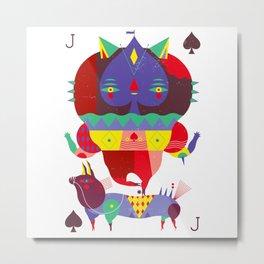 Jack of spades Metal Print
