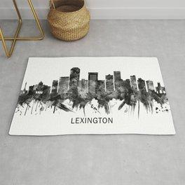 Lexington Kentucky Skyline BW Rug