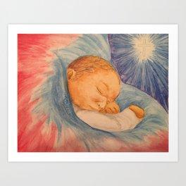 Baby Jesus Christmas Art Print