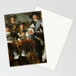 Abraham Liedts - Officers and Guardsmen of the Company of Dirck Claesz Veen militia in Hoorn Stationery Cards