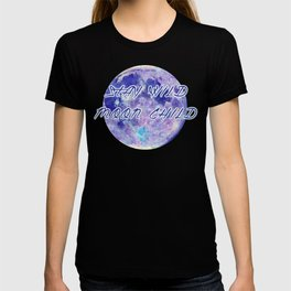 Stay Wild Moon Child - purple blues T-shirt