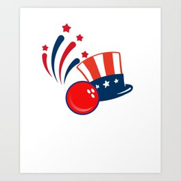 Patriotic - Bowling For Freedom Art Print