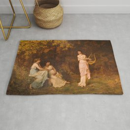 The Song 1881 By Sophie Gengembre Anderson | Reproduction Rug