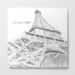 La Tour Eiffel en Blanc Metal Print