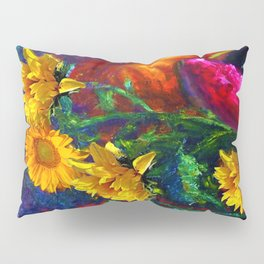 Sunflowers & fruit Fall Still Life Painting Pillow Sham