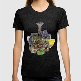 Up - Carl's House Cross-Section T-shirt