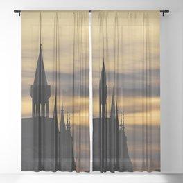Stockholm Sunset 3 Sheer Curtain
