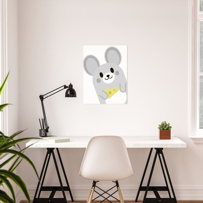 Mouse Wall Art Kids Room Baby Nursery Decor Home Farm Animals Poster By Trartstudio
