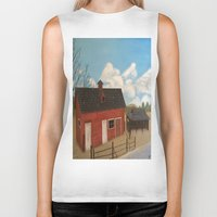 rustic Biker Tanks featuring Rustic Barn by McNallieGalleries