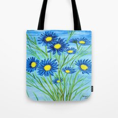 Blue Daisies  Tote Bag