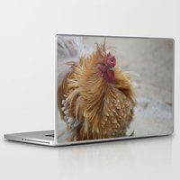 cock Laptop & iPad Skins featuring Fluffy Cock by SomniumStudios.co.uk
